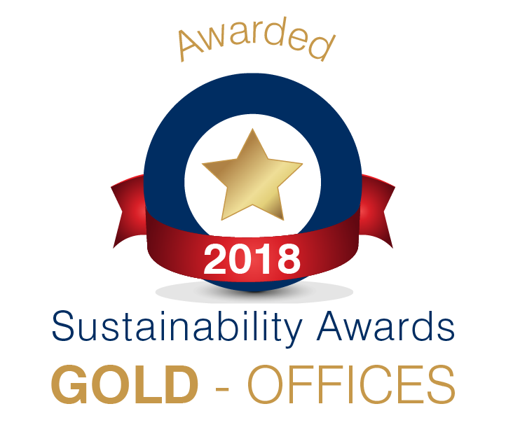 Sustainability award - gold