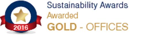 Sustainability award 2016/17 Office Awards - Gold Winner