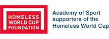 Academy of Sport supporters of the Homeless World Cup