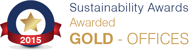 Awarded Sustainability Awards Gold - Offices 2015