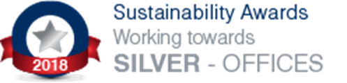 Working towards 'Silver - Offices' Sustainability Award