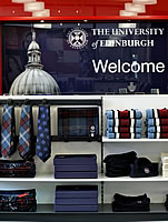 University merchandise in the Visitor Centre