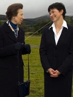 The Princess Royal and Professor Elaine Watson, Head of the Royal (Dick) School of Veterinary Studies