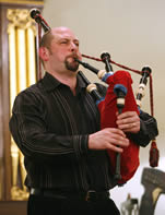 Dr. Gary West, Celtic and Scottish Studies, playing at 2007's St Andrew's Day celebration.