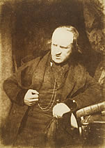 Calotype print of David Laing (1793-1878), Librarian to the Signet and major benefactor of the University Library