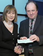 Last year's James Tait Black biography winner, Rosemary Hill, with James Naughtie