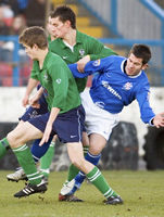 Edinburgh University Association Football Club versus Cowdenbeath in the third round of the Scottish Cup in 2006