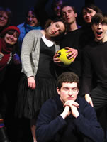 The cast of Gum and Goo, a 2007/08 production at the Bedlam Theatre
