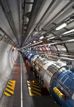 View of the Large Hadron Collider tunnel sector 3-4, CERN
