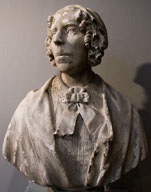 Photo of a bust of an unknown subject from the University's collection, part of the False Memory Archive exhibition