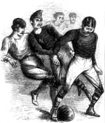 Victorian-era illustration of a football game
