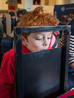 Photo of a child at the Edinburgh International Science Festival
