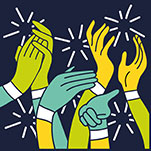 Illustration of hands clapping