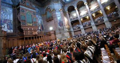Graduation ceremony in McEwan Hall