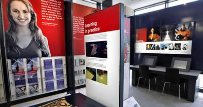 Exhibition space at the University Visitor Centre