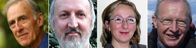 Professor Aubrey Manning, Professor John Henry, Dr Stana Nenadic and Professor Stuart Monro