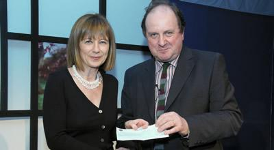 Rosemary Hill and James Naughtie at the James Tait Black Award Ceremony