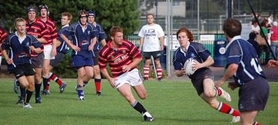 Edinburgh University Rugby Club players