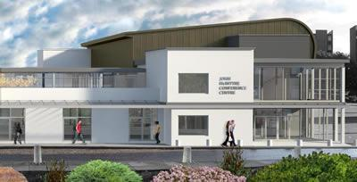 Artist's impression of the refurbished and extended John McIntyre Conference Centre