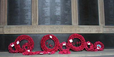 Remembrance wreaths, Old College