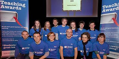 Students at the launch of the EUSA teaching awards