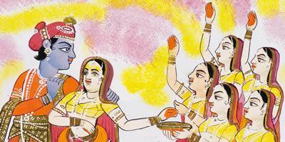 Detail from'Vasanta Ragini'