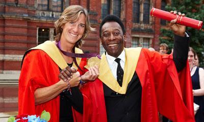 Katherine Grainger and Pelé