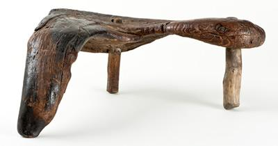 Stool made from wood purported to have been used by Bonnie Prince Charlie when he was in the Western Isles.