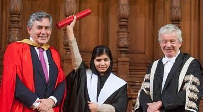 Malala Yousafzai receives honorary degree