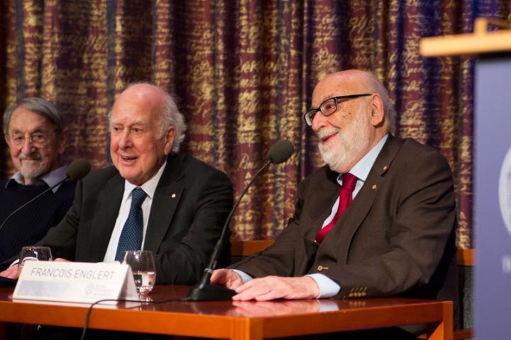 Professors Peter Higgs and François Englert