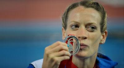 Photo of Eilidh Child with her Commonwealth Games silver medal