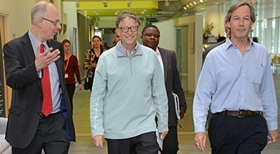 Bill Gates at Easter Bush