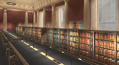 Artist's impression of the Law Library