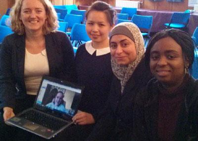 Our students taking part in our 3 Minute Thesis event 2014