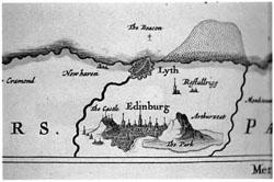 Blau's Edinburg Map Detail