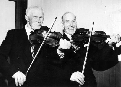 Shetland fiddlers Bobby Jamieson and Willie Henderson