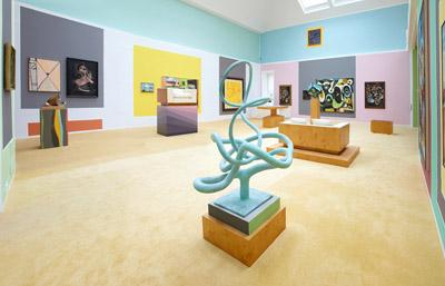 Image of the Anton Henning exhibition, Interieur No. 493.