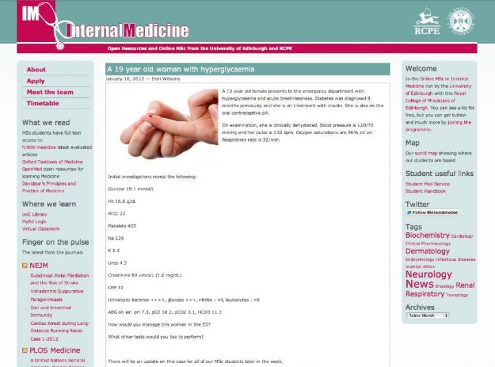 Internal Medicing blog homepage