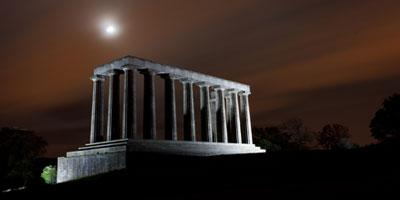 Mohammad Hirzallah's winning photograph of Calton Hill