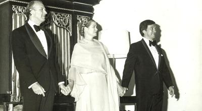Princess Grace with Richard Kiley (left) and Richard Pasco (right).