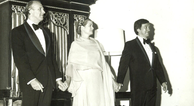 Princess Grace with Richard Kiley (left) and Richard Pasco (right).