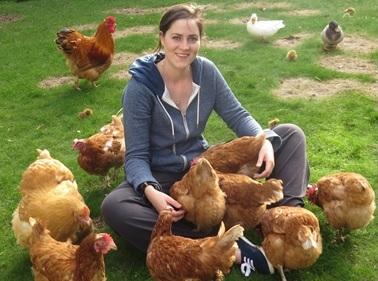 Graduate with chickens