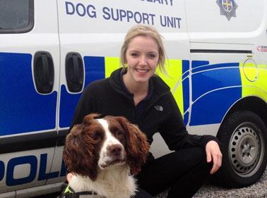 Graduate with police dog