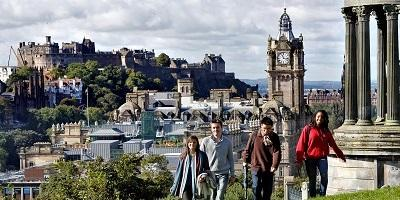 Students on Calton Hill 400x200