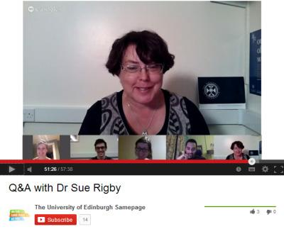 Dr Sue Rigby, Vice Principal Learning and Teaching