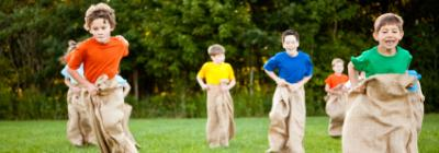 child sack race
