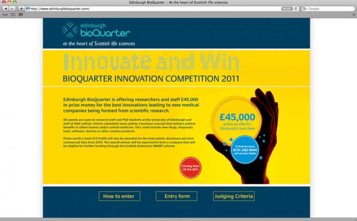 Edinburgh BioQuarter Competition webpage