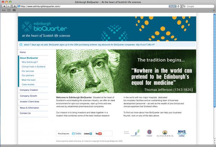 bioquarter webpage