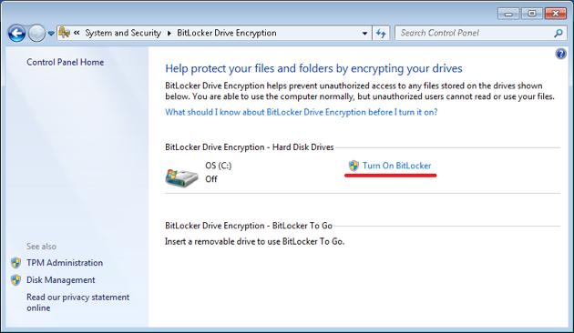 Bitlocker encryption instructions | The University of Edinburgh