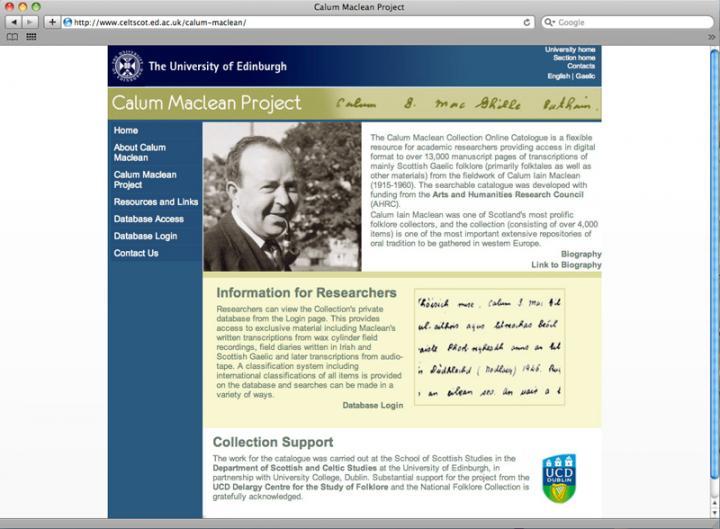 Calum Maclean webpage